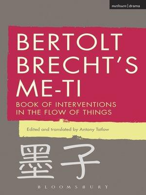 cover image of Bertolt Brecht's Me-ti