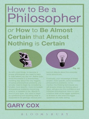 cover image of How to Be a Philosopher