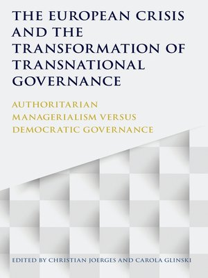 cover image of The European Crisis and the Transformation of Transnational Governance