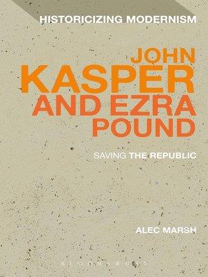 cover image of John Kasper and Ezra Pound