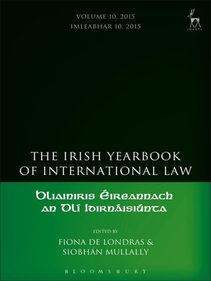 cover image of The Irish Yearbook of International Law, Volume 10, 2015