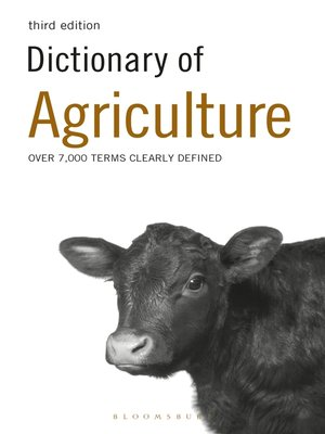cover image of Dictionary of Agriculture