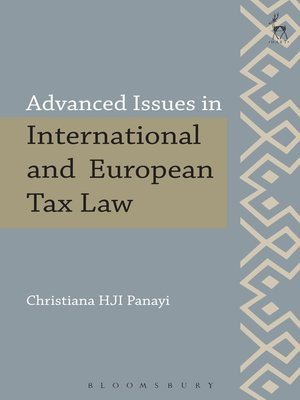 cover image of Advanced Issues in International and European Tax Law