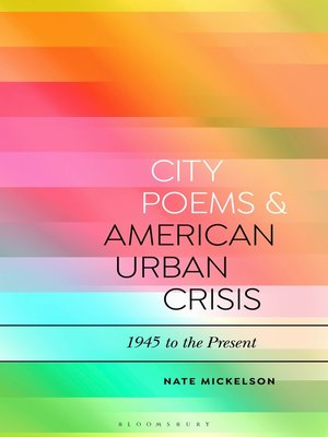 cover image of City Poems and American Urban Crisis