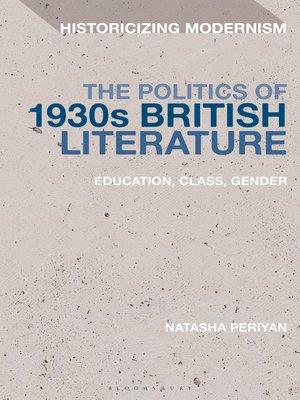 cover image of The Politics of 1930s British Literature