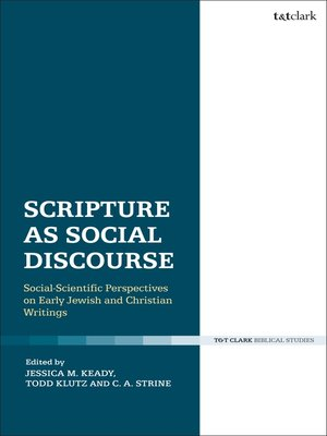 cover image of Scripture as Social Discourse