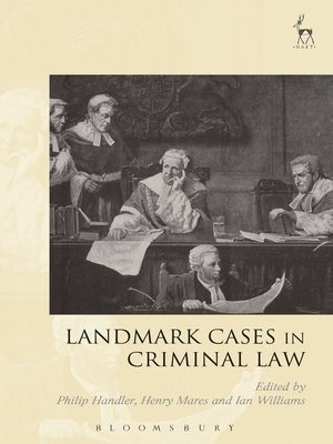 cover image of Landmark Cases in Criminal Law