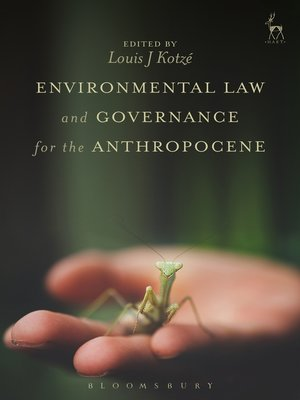 cover image of Environmental Law and Governance for the Anthropocene