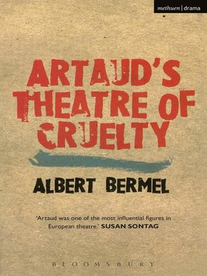 cover image of Artaud's Theatre of Cruelty