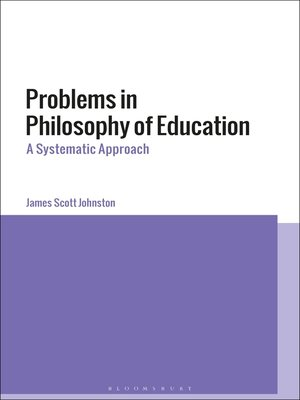 cover image of Problems in Philosophy of Education