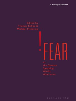 cover image of Fear in the German Speaking World, 1600-2000