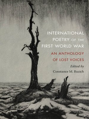 cover image of International Poetry of the First World War