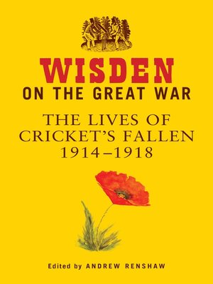 cover image of Wisden on the Great War