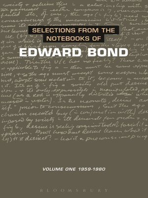 cover image of Selections from the Notebooks of Edward Bond, Volume 1