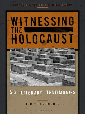 cover image of Witnessing the Holocaust