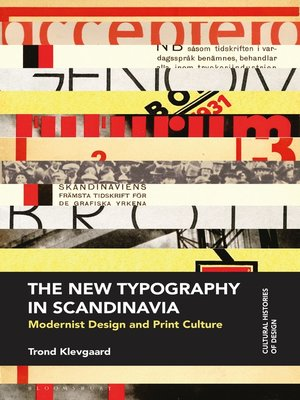 cover image of The New Typography in Scandinavia