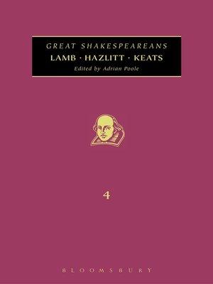 cover image of Lamb, Hazlitt, Keats