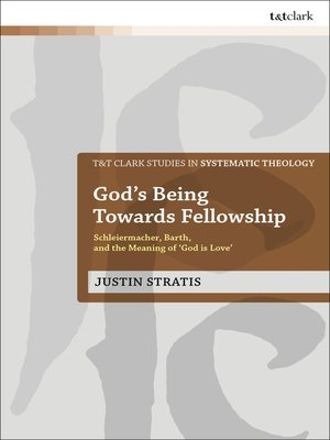 cover image of God's Being Towards Fellowship