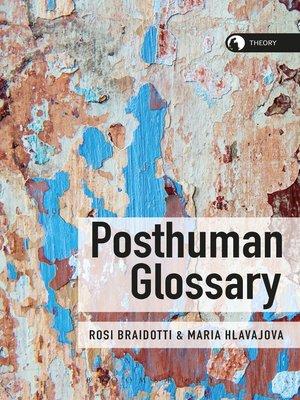 cover image of Posthuman Glossary