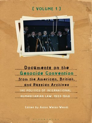 cover image of Documents on the Genocide Convention from the American, British, and Russian Archives