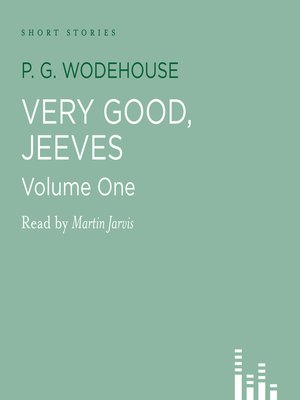 cover image of Very Good Jeeves, volume 1