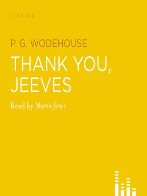cover image of Thank You Jeeves