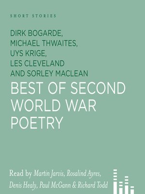 cover image of Best of Second World War Poetry