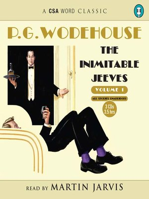 cover image of The Inimitable Jeeves, volume 1