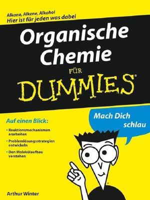 cover image of Organische Chemie fÜr Dummies