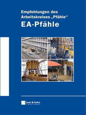 "cover image of Empfehlungen des Arbeitskreises ""Pfähle"" -  EA-Pfähle"