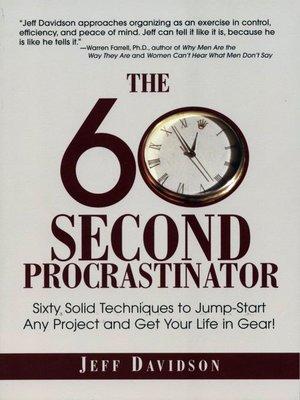 cover image of The 60 Second Procrastinator