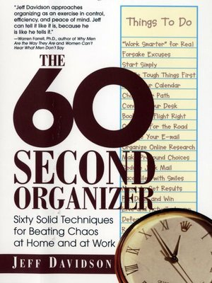 cover image of The 60 Second Organizer