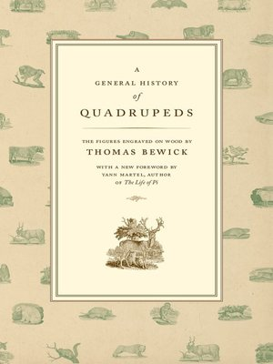 cover image of A General History of Quadrupeds