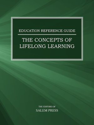 cover image of Education Reference Guide: Concepts of Lifelong Learning