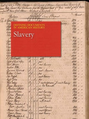 cover image of Defining Documents in American History: Slavery