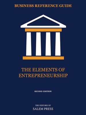 cover image of The Elements of Entrepreneurship