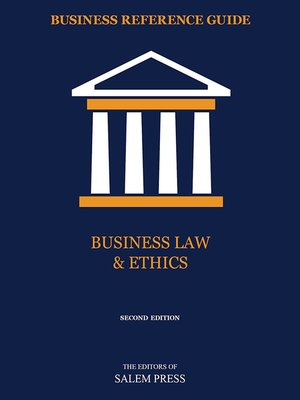 cover image of Business Law & Ethics