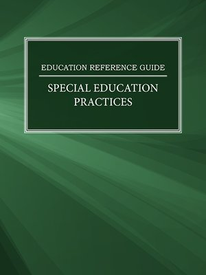 cover image of Education Reference Guide: Special Education Practices