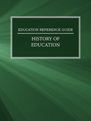 cover image of Education Reference Guide: History of Education