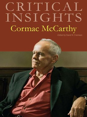 cover image of Critical Insights: Cormac McCarthy