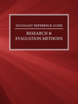 cover image of Sociology Reference Guide: Research & Evaluation Methods