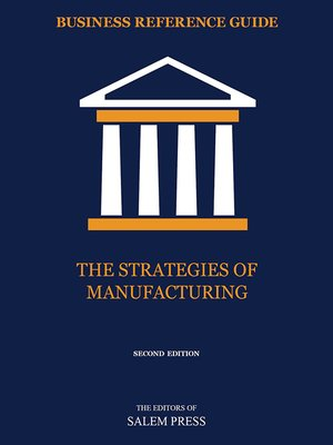 cover image of The Strategies of Manufacturing