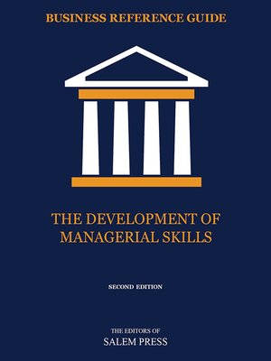 cover image of The Development of Managerial Skills