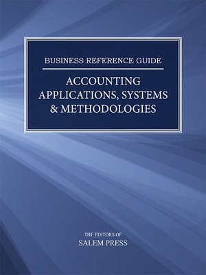 cover image of Business Reference Guide: Accounting Applications, Systems & Methodologies