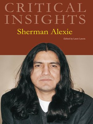 cover image of Critical Insights: Sherman Alexie