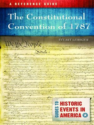 cover image of The Constitutional Convention of 1787