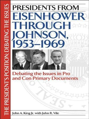 cover image of Presidents from Eisenhower through Johnson, 1953-1969