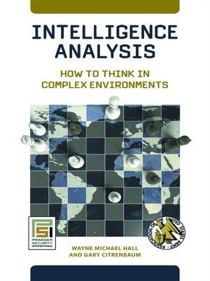 cover image of Intelligence Analysis