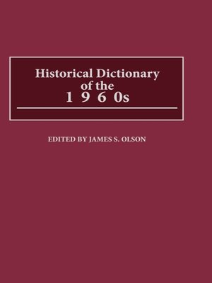 cover image of Historical Dictionary of the 1960s