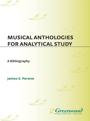 cover image of Musical Anthologies for Analytical Study